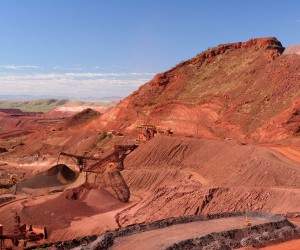 Iron Ore Truck Unloading Western Australia