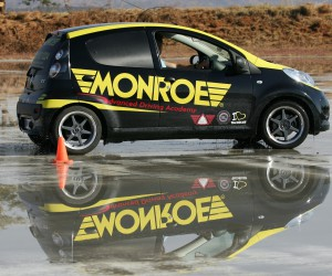 One The skid pan - students were put through a slalom and breaking exercise on the skid pan at the launch of the Monroe Advanced Driving Academy.JPG