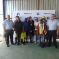 Corrie Coetzee- left Lorrette Coetzee- middle and Hennie Coetzee -Right with TDS Workers.JPG