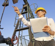 Female engineer in oil field