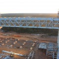 Second 1200 tonne prefabricated conveyer truss going into final position at First Quantum Minerals' Sentinal Mine.jpg