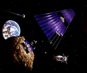 Solar power satellite from an asteroid